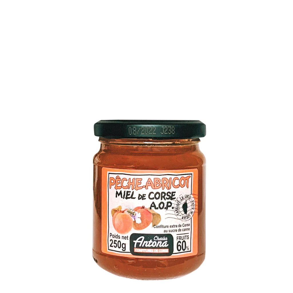 Peach and apricot jam with Corsican honey - 250g