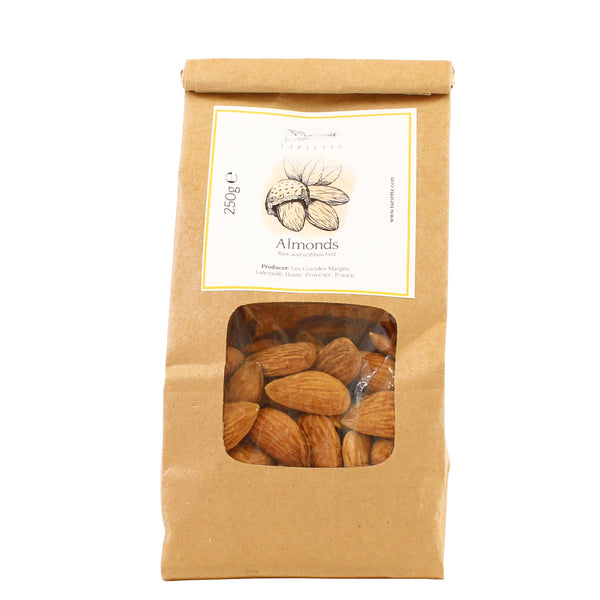 Bag of raw almonds from Provence
