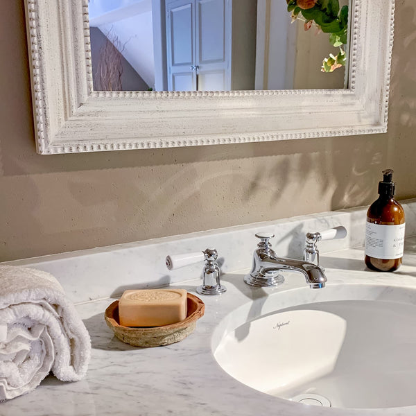 Provence soap in beautiful bathroom
