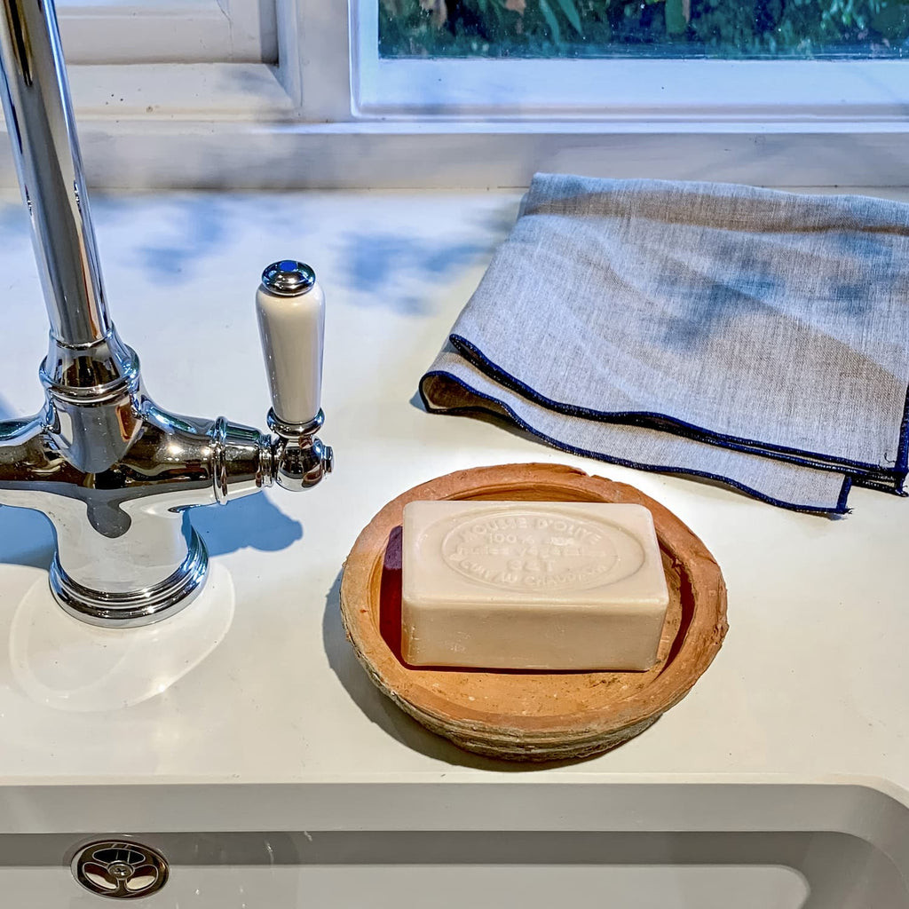 provence artisan soap in a kitchen