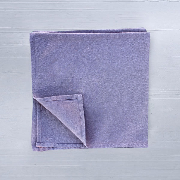linen napkins in iris clour