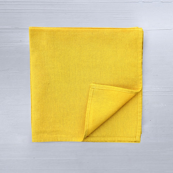 linen napkins in curry colour
