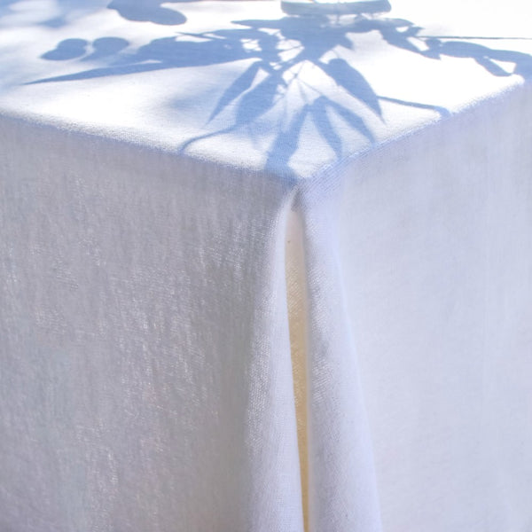 White linen tablecloth from Provence