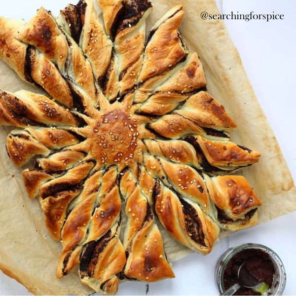 Tapenade twists made with puff pastry