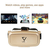 VRIT Top 3D VR Headset Set + Bluetooth Remote + Guide To Virtual Reality, Virtual Reality Kit  (Gold)