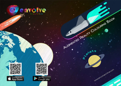 Envolve Augmented Reality 'Planets' Colouring Book