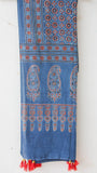 Ajrakh Indigo and Red Natural Dyed Soft Cotton Dupatta