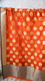 Benarasi Silk Orange Dupatta with Zari Butis and Border