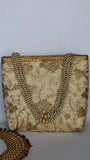 Ethnic Embroidered Beige and Gold Tote Party Bag
