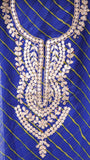 Rajasthani Handcrafted Gota Patti Royal Blue Kurta with Orange Bandhani Dupatta