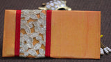 Zari Lace Peach and Maroon Clutch cum Wallet