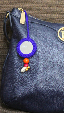 Ethnic Gypsy Blue Bag Charm