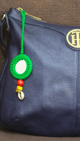 Ethnic Gypsy Green Bag Charm