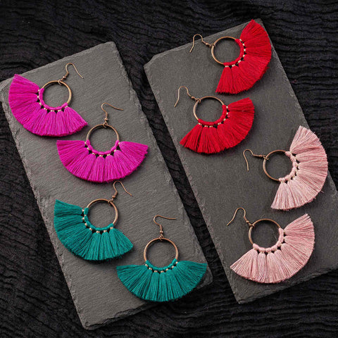 Handmade Bohemian Tassel earrings AL276