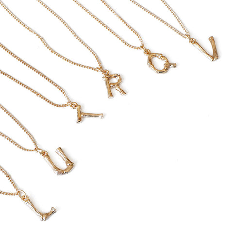 "16"" Gold Letter Necklace AL081"