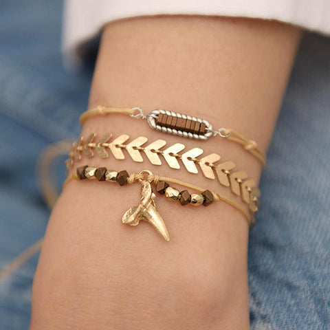 3pcs each set,Arrow Adjustable Women's Combination Bracelet