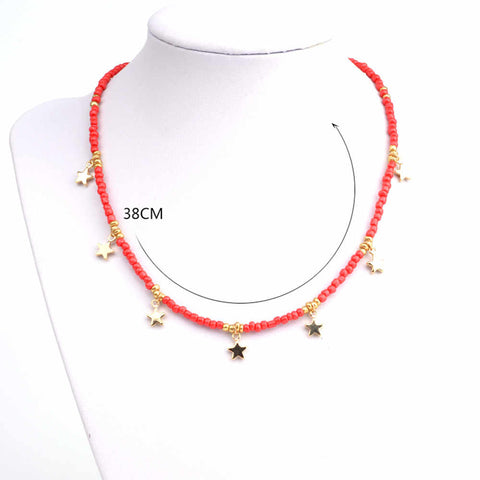 "15"" Tiny Millet Bead Choker necklace"