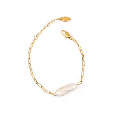 Simple Natural Baroque Pearl Bracelet WX1777