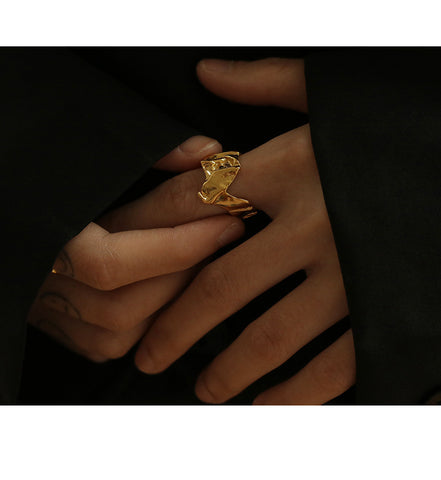 Complex Personality iIrregular Design Cuff Ring WX1776