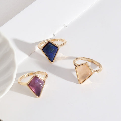 Natural Amethyst Lapis Rose Qhttps://druzy-world.myshopify.com/admin/products/newuartz Gold Ring