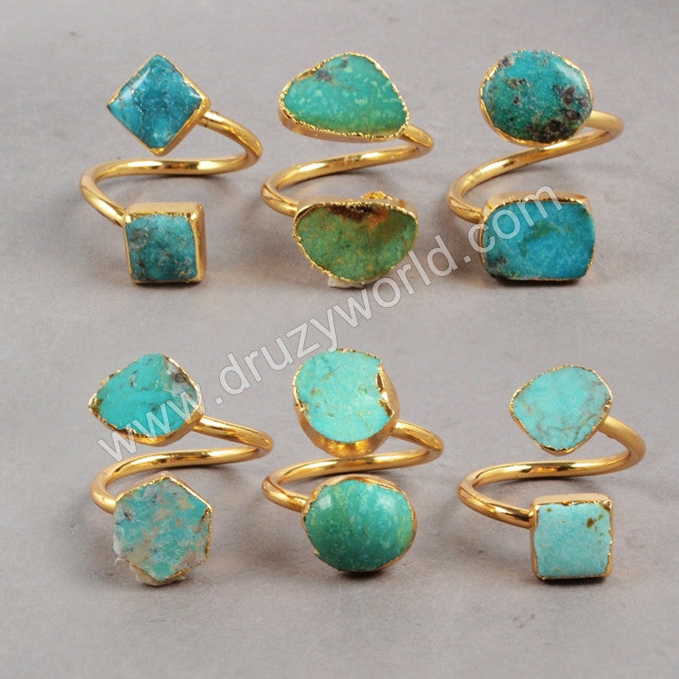 Turquoise Gemstones Ring, December Birthstone, Statement Cocktail Turquoise Ring G0183