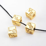 CZ Micro Pave Pattern Beads For Jewelry Making Gold Plated WX1337