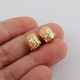 10pieces/lot Buddha Shape Gold Plated Brass Charm Making Jewelry Supply PJ344