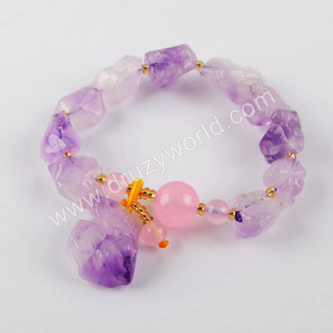 Natural Amethyst Bracelet Wholesale Gold Jewelry Gift For Women WX1287