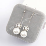Gold/Silver Faux Pearl Perfume Bottle Pendant Earrings WX1623