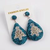 Rhinestone Pave Drop Dangle Earrings JAB807