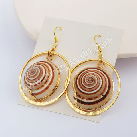 Conch Earrings Fashion Earrings Women Jewelry Gold Plated HD0193