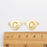 CZ Micro Pave Letter Connector For Jewelry Making Gold Plated WX1340