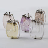 Natural Multi-kind Stones Perfume Bottle Pendant Silver Plated WX1303