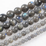 4mm/6mm/8mm/10mm/12mm Round Natural Labradorite Loose Beads LS003