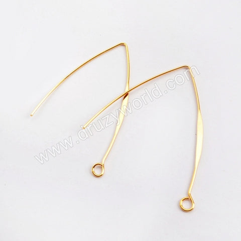 10pairs/lot,Gold Plated Brass V Shape Charm PJ122