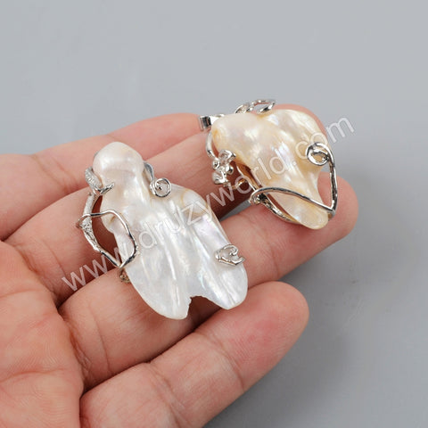 Natural Pearl Silver Pendant WX1204