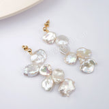 Natural Pearl Earrings Statement Earrings Women Earrings Gold Plated HD0198