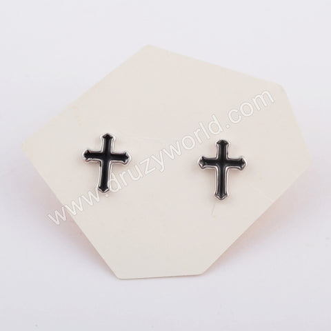 Silver Plated Cross Studs WX1151