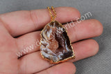 Special natural color onyx agate pendant G0088