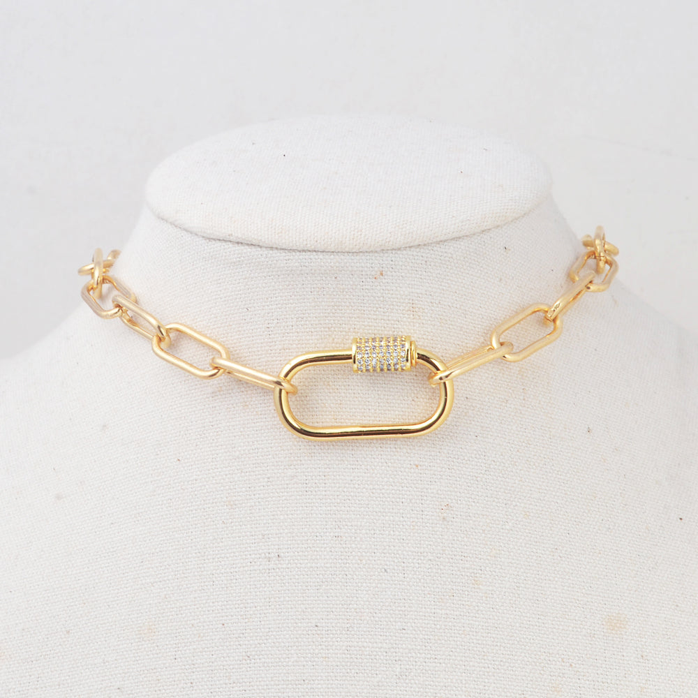 Big Chain Choker Necklace Summer Trend HD0351