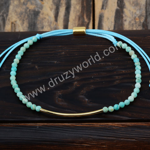 Amazonite Beads Bracelet Adjustable Bracelet For Women HD0221