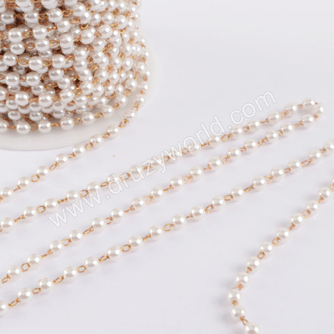 Pearl Rosary Chains In Gold Plated Jewelry South Sea shell JT268
