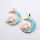 Seashell Howlite Turquoise Pendant Charm For Women Jewelry Gold Plated G1955