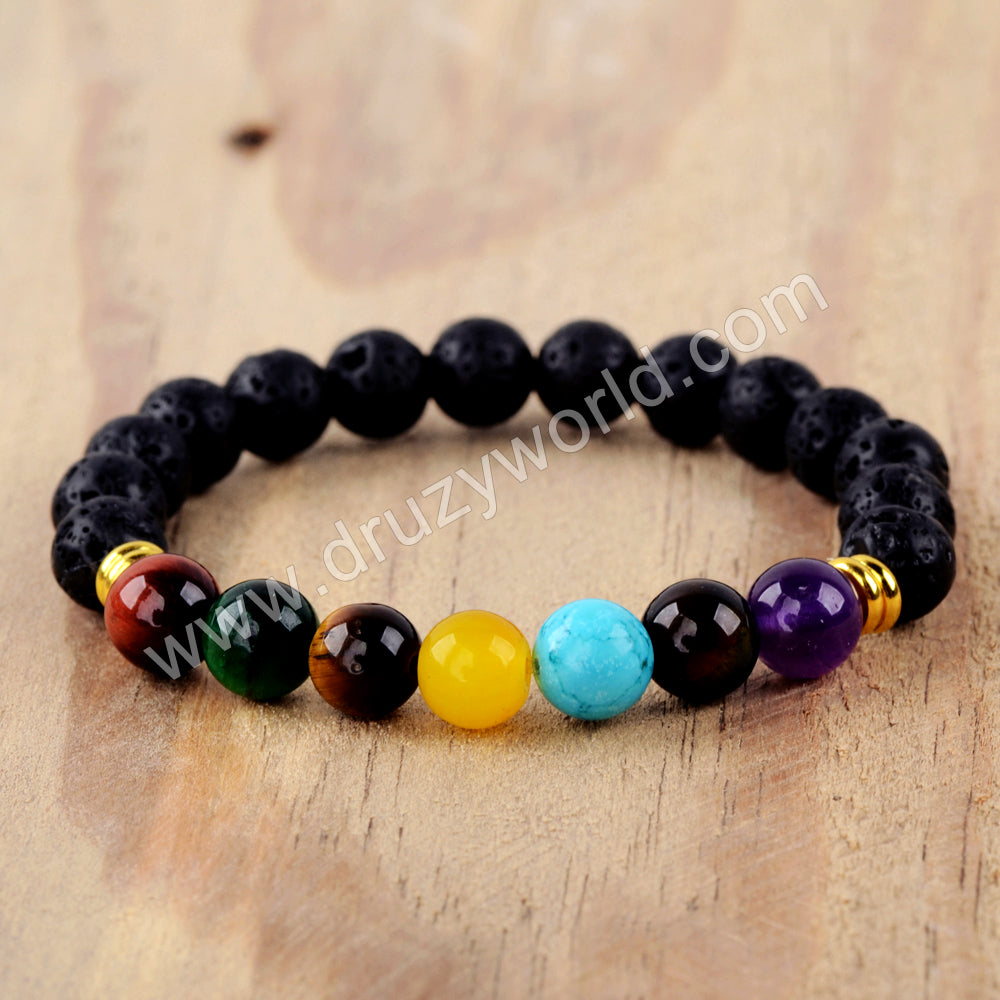 Pelelith Natural Multi-kind Stones Beads Bracelet For Couple HD0222