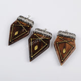 Rhinestone Pave Resin Shield Pendant JAB662