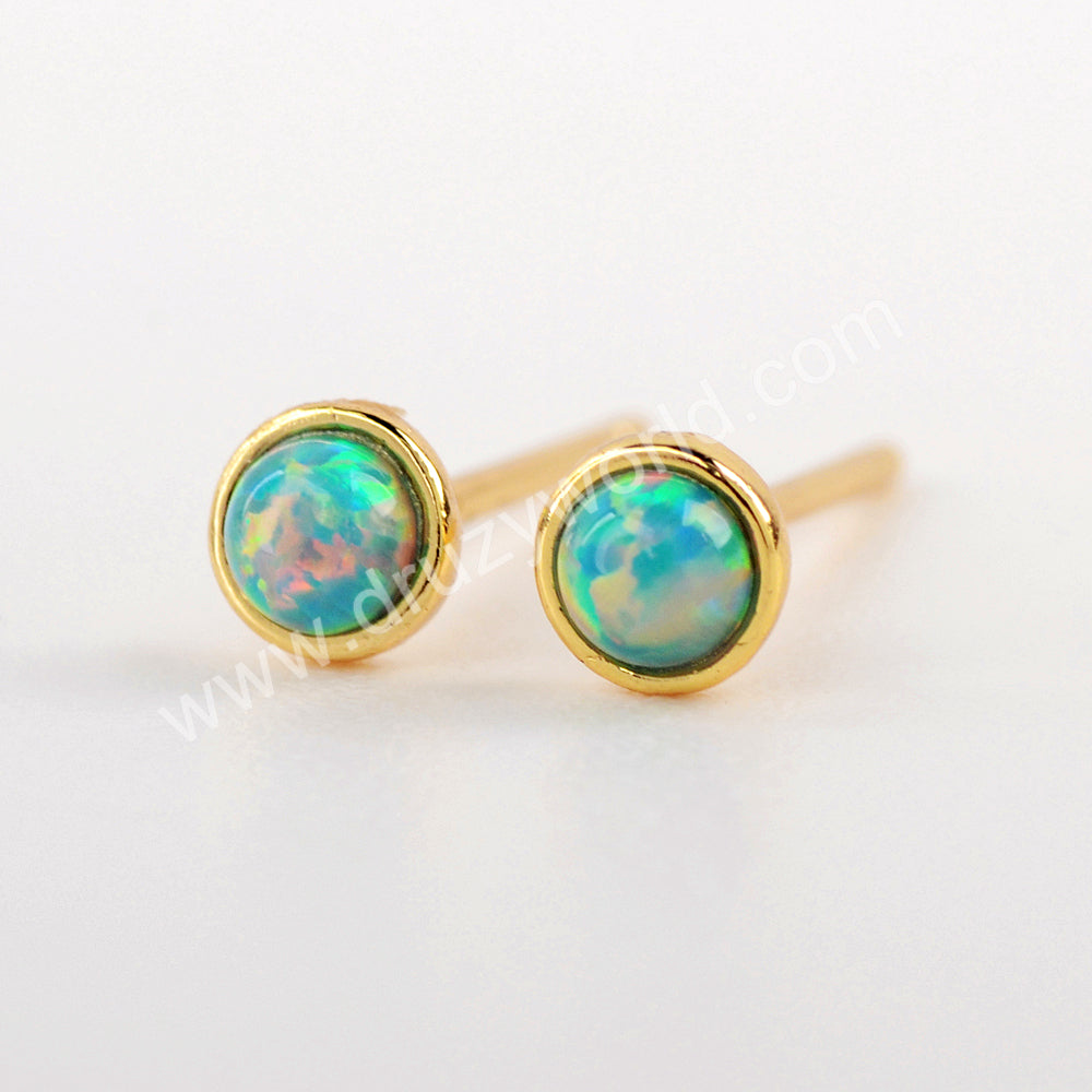 Opal Stud Earrings Stunning Earrings 925 Sterling Silver WX1375