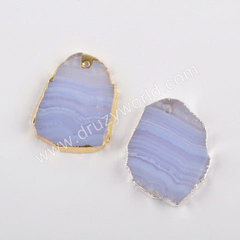 Chalcedony Pendant Gold Plated WX1502