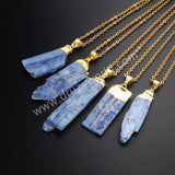 Gold Plated Rough Natural Kynite Pendant