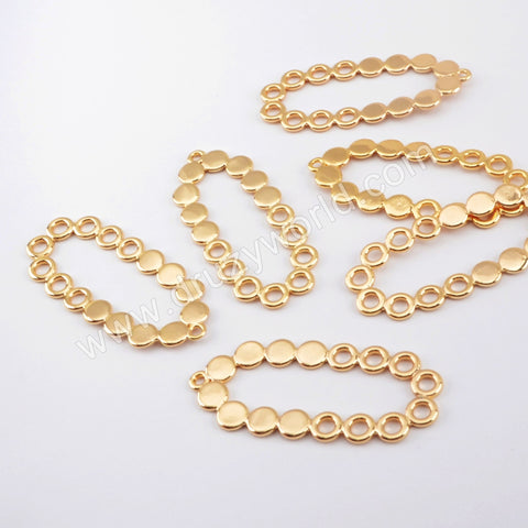 10 Pieces Hollow Charm Making Jewelry Supply Gold Plated Brass PJ420