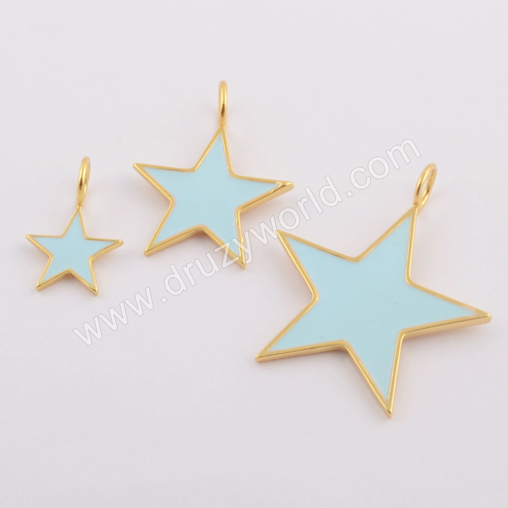 Star Gold Plated Rainbow Pendant WX1102